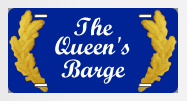 The Queen's Barge... Royal tags!