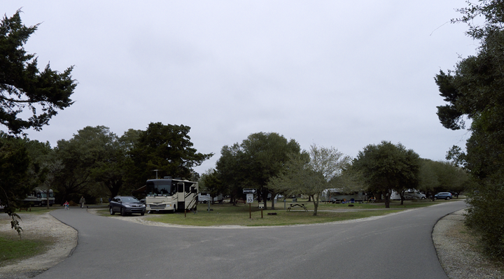 The campsites are huge with plenty of space between them.
