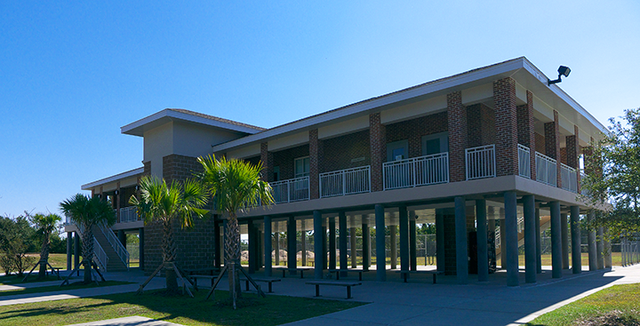 The store and laundry facility is built to withstand another hurricane, as are all the other buildings in the park.