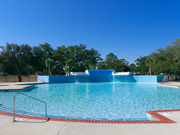 The pool is three and a half feet deep and would be nice to float around in summertime.