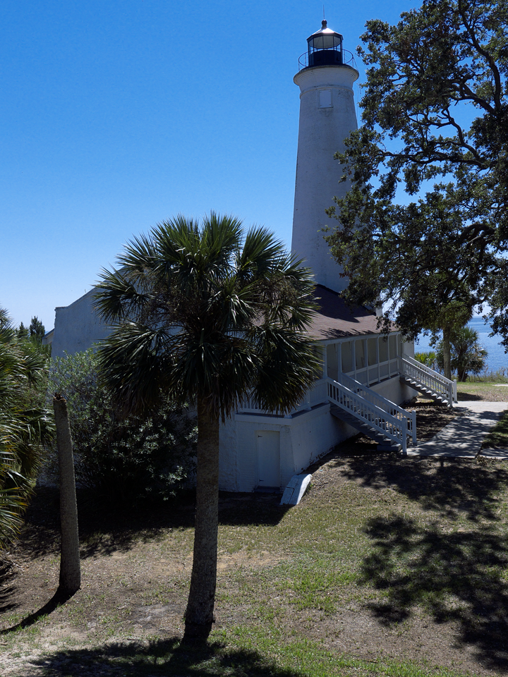 St. Marks light, built 1829.